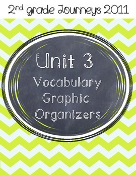 2nd grade Journeys Unit 3 Vocabulary Graphic Organizers