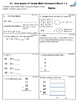 2nd grade March Math class/homework. Spiraling review & co