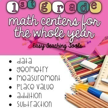 1st grade Math Centers Bundle for the Entire Year  {65+ Centers}