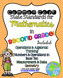 2nd grade Math Common Core Standards Posters BUNDLE