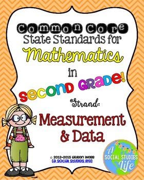 2nd grade Math Common Core Standards Posters Measurement and Data