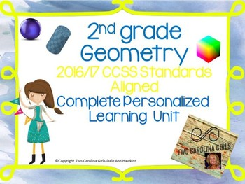2nd grade Math - Geometry Personalized Learning Unit CCSS Aligned
