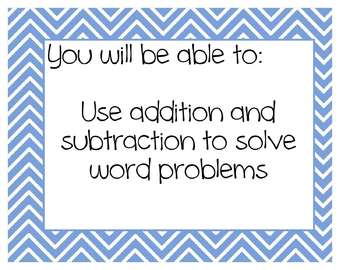 2nd grade Common Core Math Objective Posters