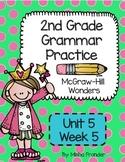 2nd grade McGraw-Hill Wonders Grammar Practice  U5 W5 / Pronoun-Verb Agreement