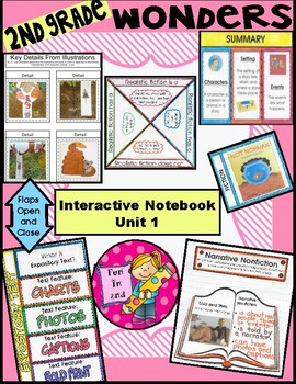2nd grade McGraw Hill Wonders Interactive Notebook Unit 1