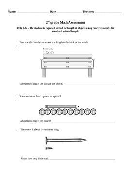 2nd grade Measurement (length) assessment