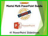 2nd grade Mental Math PowerPoint Bundle