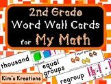 2nd grade My Math (McGraw Hill) Vocabulary Word Wall Cards