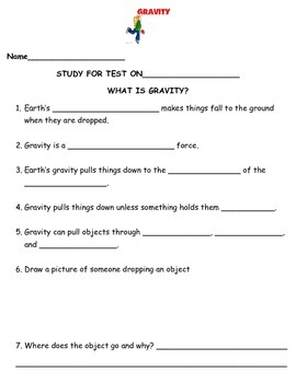 2nd grade NG Science - Forces & Motion Gravity Physical (Ch2) Review & Test PDF