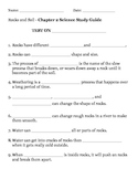 2nd grade NG Science - Rocks & Soil (Ch 2) Study Guide & T