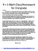 2nd grade November Math class/homework. Spiraling review & constructed response