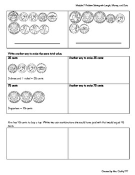 2nd grade Problem Solving with Length, Money, and Data CC Module 7