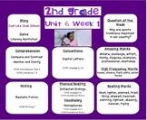 2nd grade- Reading Street- 2011- Common Core-- Unit 6 Targ