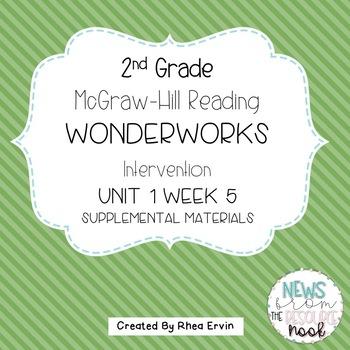 2nd grade Reading WonderWorks Supplement- Unit 1 Week 5