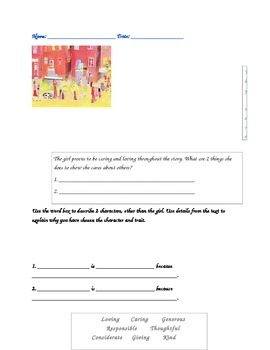 2nd grade Readygen Unit 2 Module A Lesson 5 Reading Response