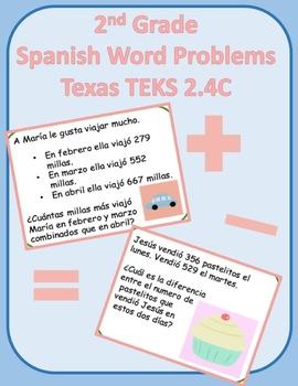 2nd grade Spanish 2.4C Word Problems