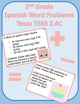 2nd grade Spanish 2.4C Word Problems