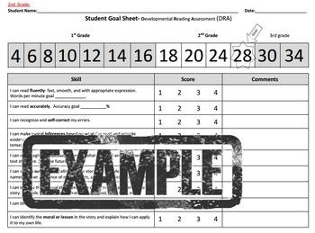 2nd grade Student Reading Goal sheet -DRA