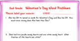 2nd grade Valentine's Day Math Word Problems