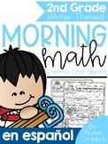 2nd grade Winter Morning Work in Spanish / Trabajo de la mañana