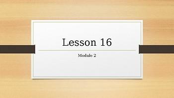 2nd grade Wit & Wisdom lesson 16 module 2