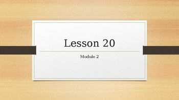2nd grade Wit & Wisdom lesson 20 module 2
