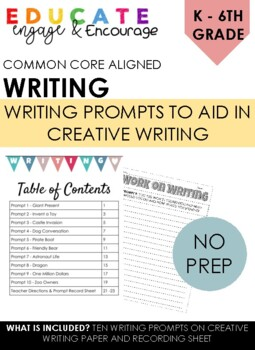 2nd grade Writing Prompts - Work on Writing -