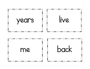 2nd grade flash cards