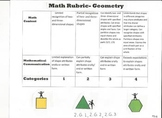 2nd grade geometry rubric