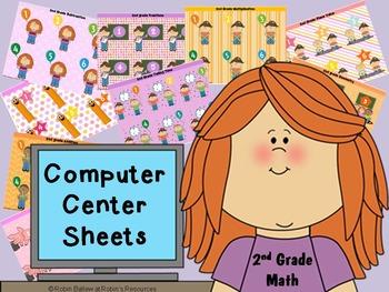 2nd grade math Computer Center Sheets