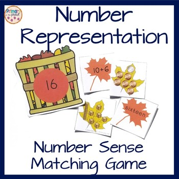 2nd grade math center- Number match game- all the leaves a