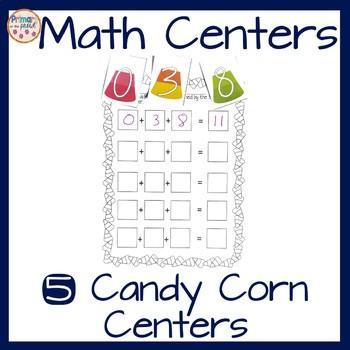 2nd grade math centers- Candy Corn Themed