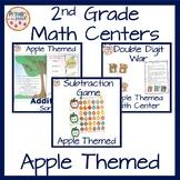 2nd grade math centers- apple themed bundle