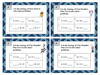 2nd grade math task cards common core addition strategies