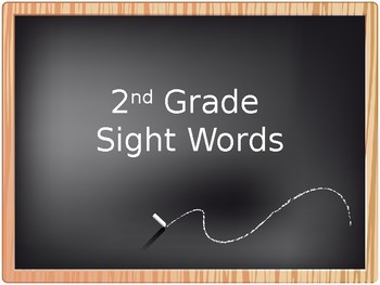 2nd grade sight word PowerPoint