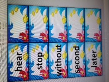 2nd grade sight words Ocean