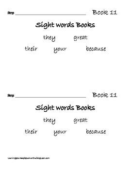 2nd grade sight words book 11