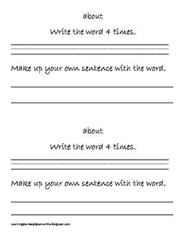 2nd grade sight words book 15