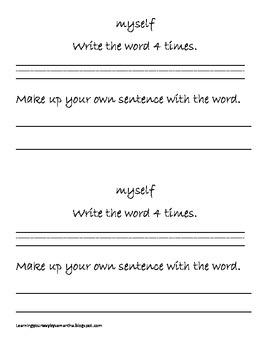 2nd grade sight words book 18