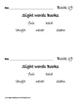 2nd grade sight words book 19