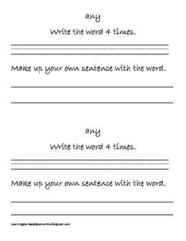 2nd grade sight words book 2