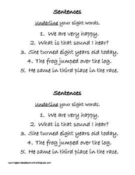 2nd grade sight words book 23