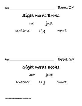 2nd grade sight words book 24