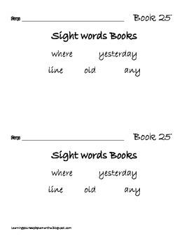 2nd grade sight words book 25