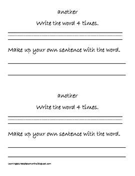 2nd grade sight words book 27