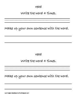 2nd grade sight words book 28