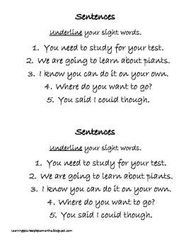 2nd grade sight words book 30
