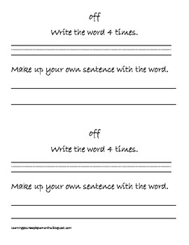 2nd grade sight words book 4