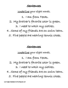 2nd grade sight words book 5