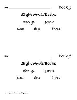 2nd grade sight words book 9